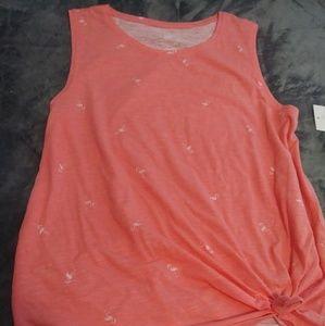 Orange flamingo tank XXL